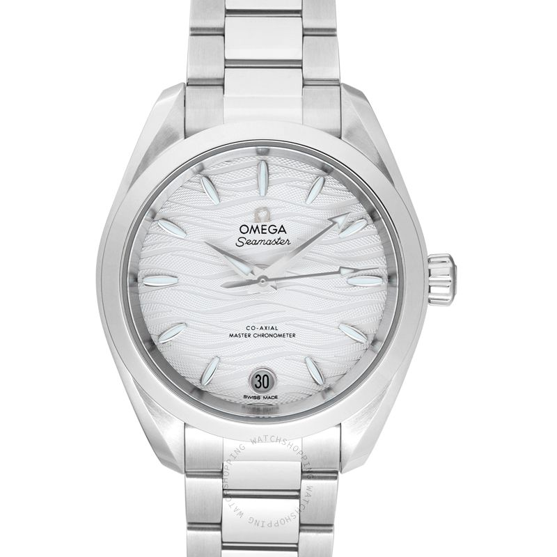 Omega Seamaster Aqua Terra 150M Co‑Axial Master Chronometer 34 mm Automatic Silver Dial Steel Ladies Watch