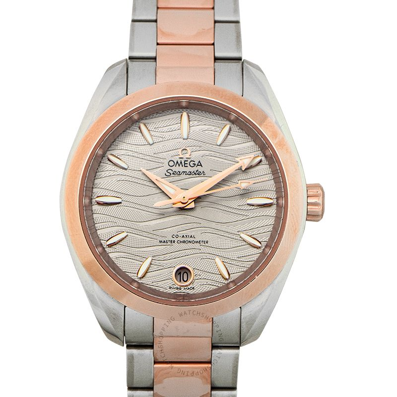 Omega Seamaster Aqua Terra 150M Co‑Axial Master Chronometer 34mm Automatic Grey Dial Gold Ladies Watch