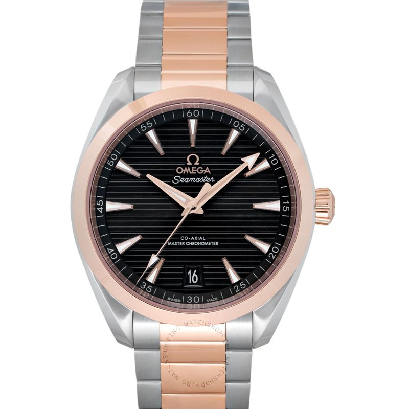 Omega Seamaster Aqua Terra 150M Co‑Axial Master Chronometer 41 mm Automatic Grey Dial Gold Men's Watch