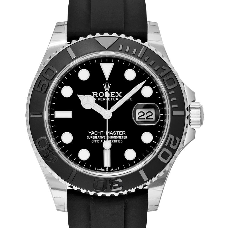 Rolex Yacht-Master 42 Automatic Black Dial 18 ct White Gold Men's Watch 226659