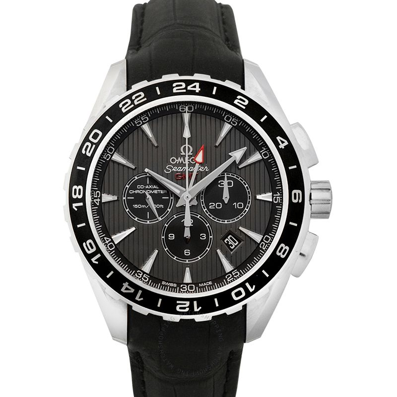 Omega Seamaster Aqua Terra 150M Co-Axial GMT Chronograph 44mm Automatic Grey Dial Steel Men's Watch 231.13.44.52.06.001