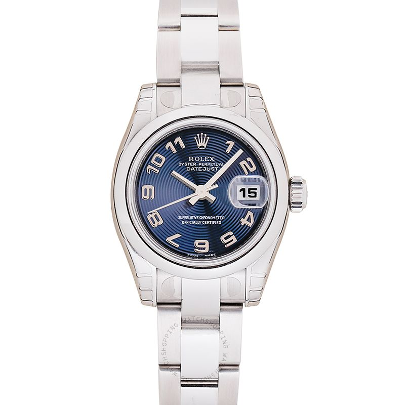 Rolex Lady Datejust 179160 Blue Arabic Oyster_@_15234
