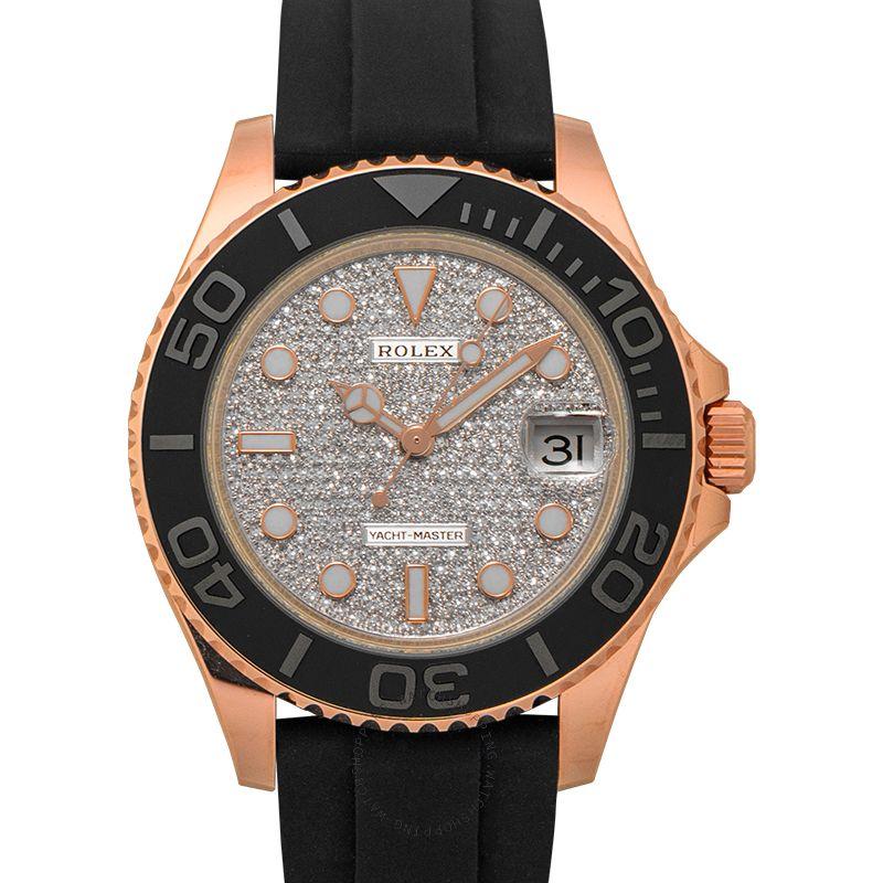 Rolex Yacht-Master 37 18ct Everose Gold Automatic Diamond Dial Unisex Watch 268655-0007