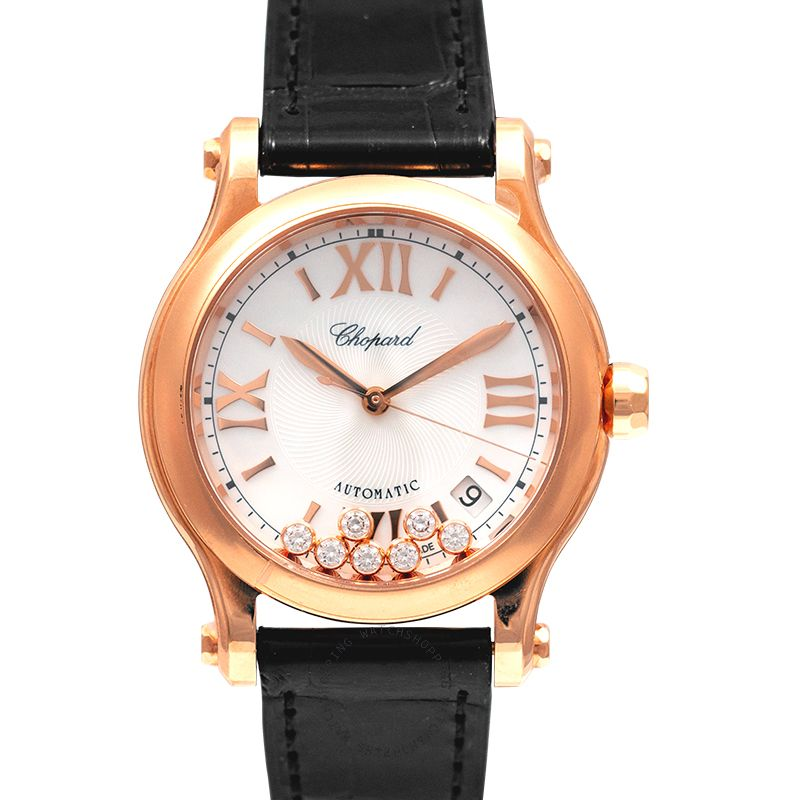 Chopard Happy Sport 36 mm Automatic Mother Of Pearl Dial Diamonds Ladies Watch 274808-5008