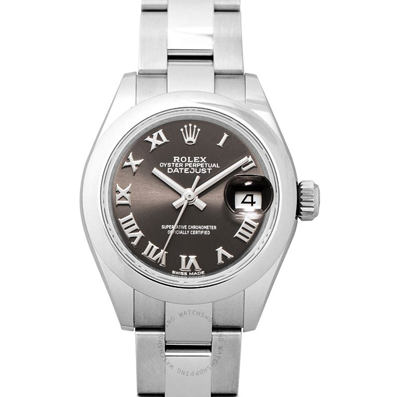 Rolex Lady-Datejust Automatic Grey Dial Oystersteel Ladies Watch 279160-0012