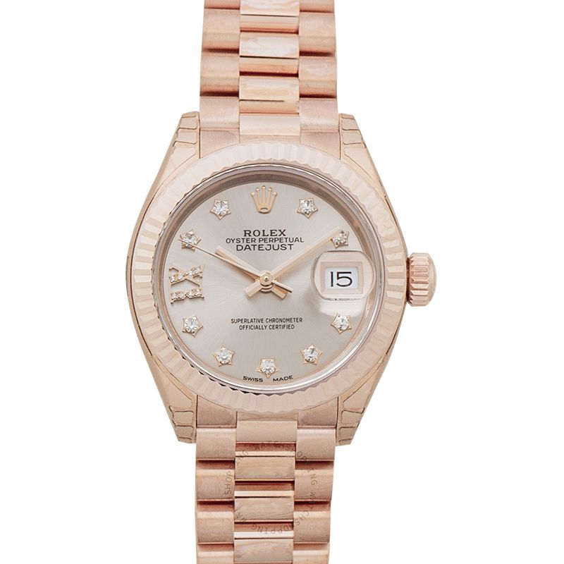 Rolex Lady-Datejust 28 Oyster 18k Everose Gold Dia 28mm