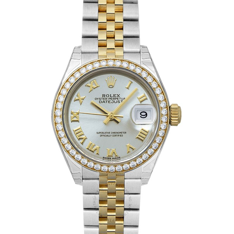 Rolex Oyster Perpetual Steel And 18ct Yellow Gold Automatic Silver Dial Ladies Watch 279383RBR-0005