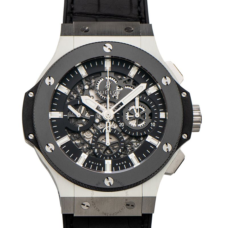 Hublot Big Bang Chronograph Automatic Black Skeleton Dial Stainless Steel Men's Watch 311.SM.1170.GR