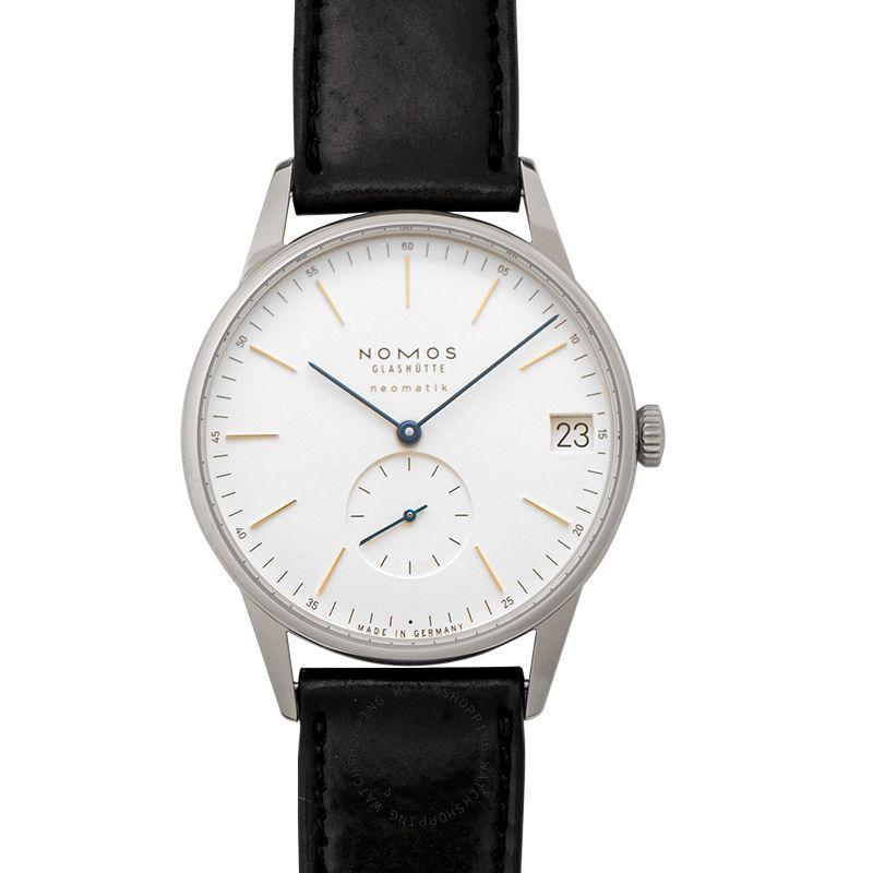 Nomos Glashütte Orion Neomatik 41 Date Automatic White Dial 40.5mm Men's Watch 360