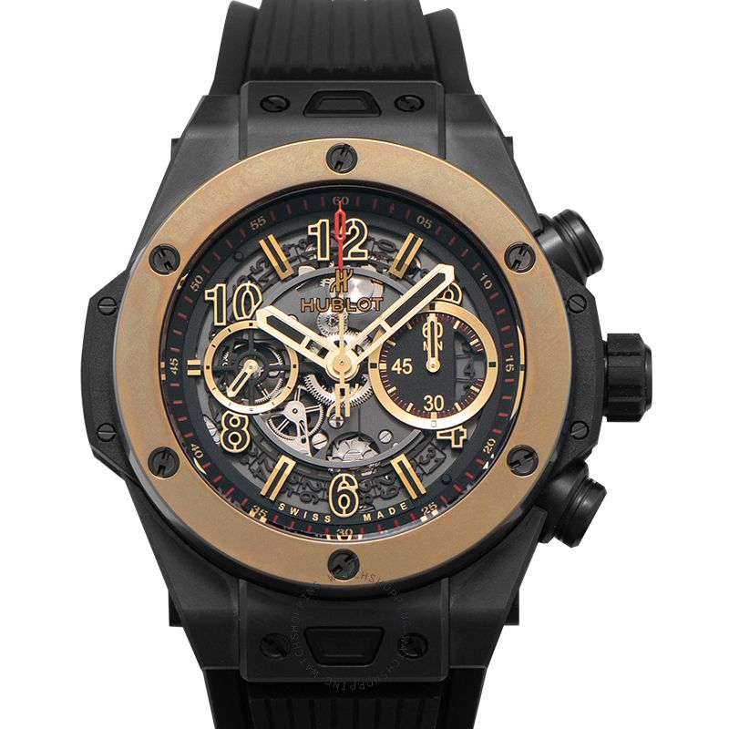 Hublot Big Bang Unico Magic Gold Automatic Skeleton Dial Black Ceramic Men's Watch 411.CM.1138.RX