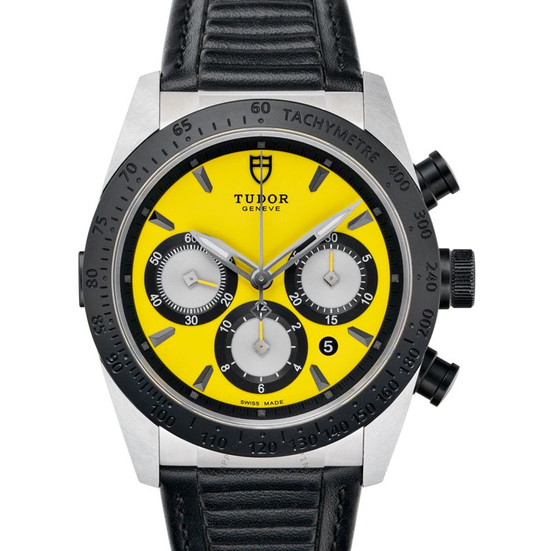 Tudor Fastrider Chrono Steel Automatic Yellow Dial Men's Watch 42010N-0002