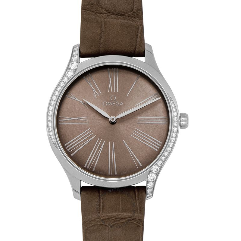 Omega Omega De Ville Tresor Taupe Brown Dial Leather Women's Watch