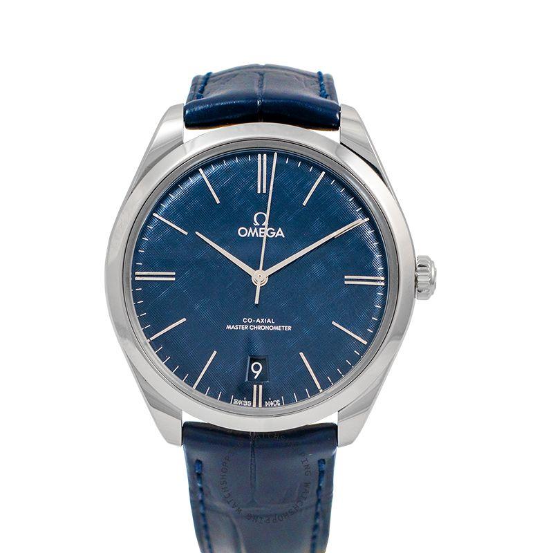 Omega De Ville Tresor Co‑Axial Master Chronometer 40mm Manual-winding Blue Dial Steel Men's Watch