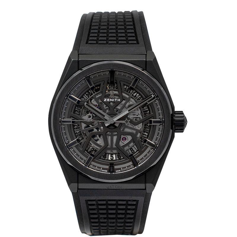 Zenith Zenith Defy Classic Ceramic Black Dial Mens Watch 41mm 49.9000.670/77.R782