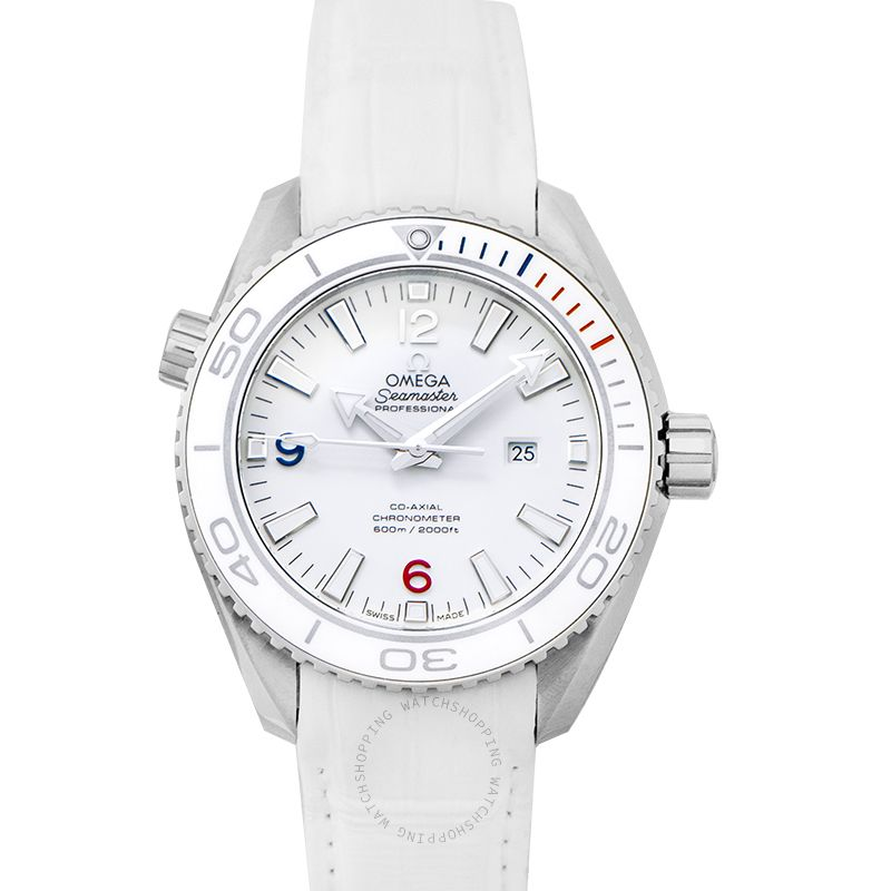 Omega Seamaster Planet Ocean 600M Co-Axial 37.5MM Olympic Games Automatic White Dial Steel Men's Watch 522.33.38.20.04.001