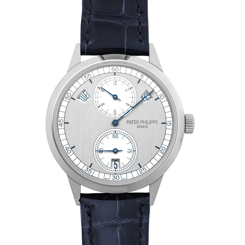 Patek Philippe Complications Silver Dial 18K White Gold Men's Calendar Watch 5235G-001