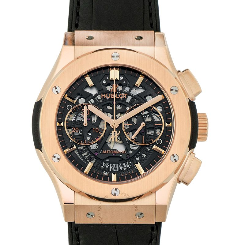 Hublot Classic Fusion Aerofusion King Gold Automatic Skeleton Dial Men's Watch