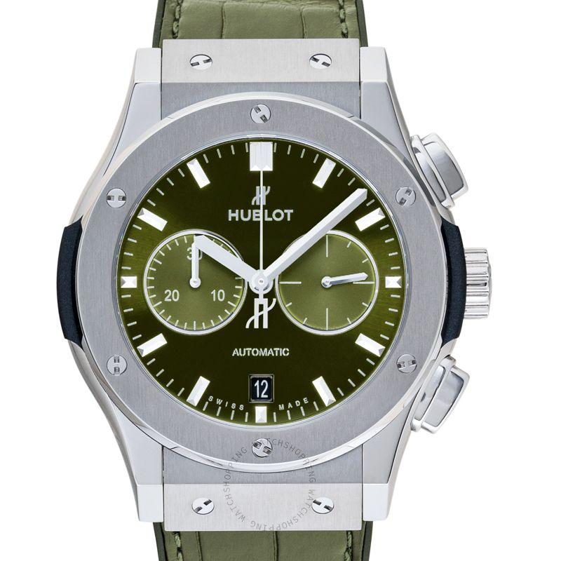 Hublot Classic Fusion Chronograph Titanium Green Automatic Green Dial Men's Watch