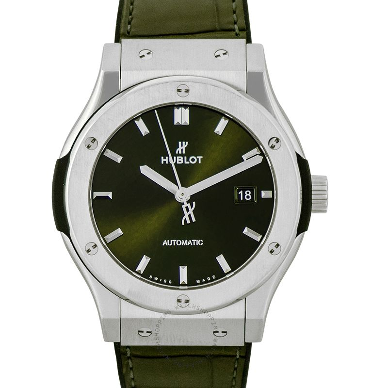 Hublot Classic Fusion Green Titanium Automatic Green Dial Men's Watch 542.NX.8970.LR