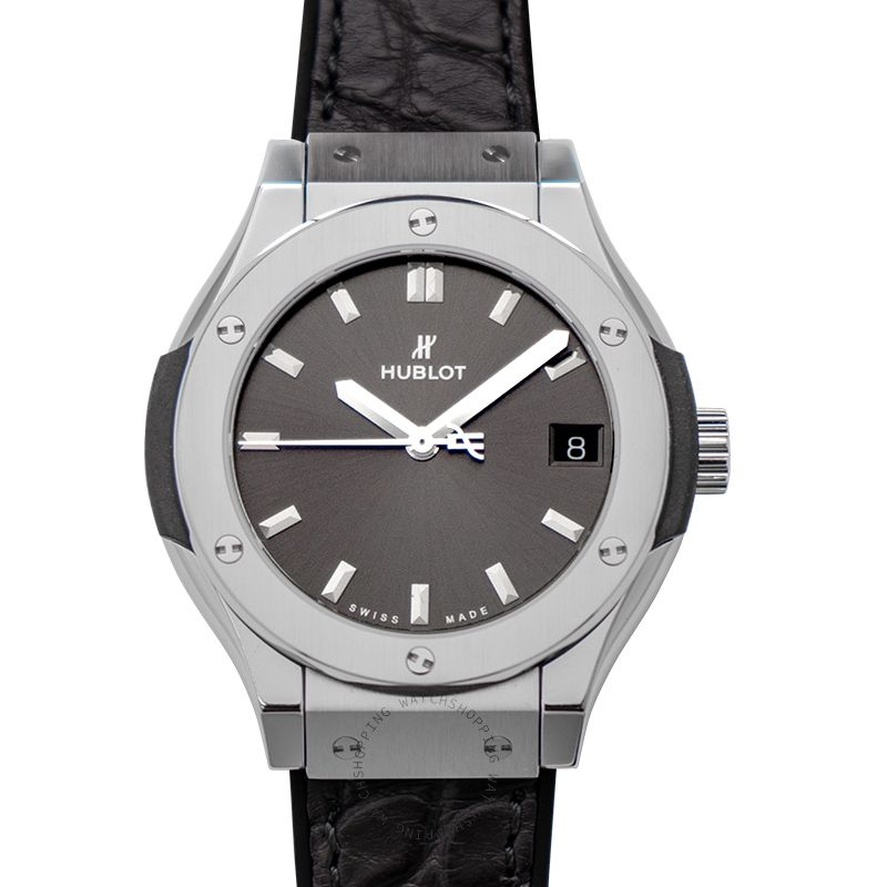 Hublot Classic Fusion Quartz Grey Dial Titanium Ladies Watch
