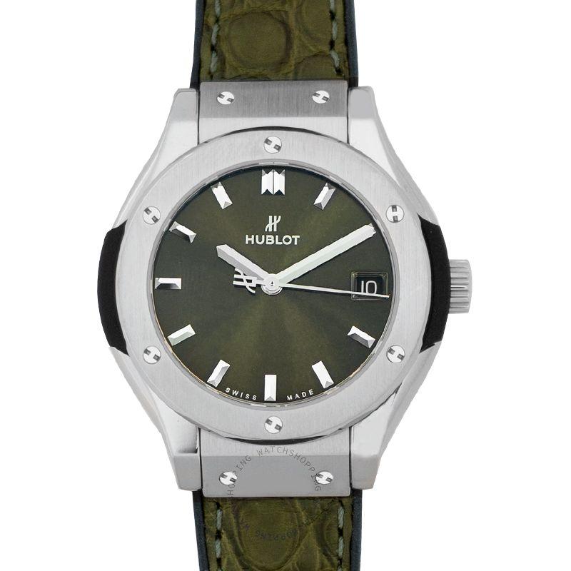 Hublot Classic Fusion Green Titanium Automatic Green Dial Men's Watch
