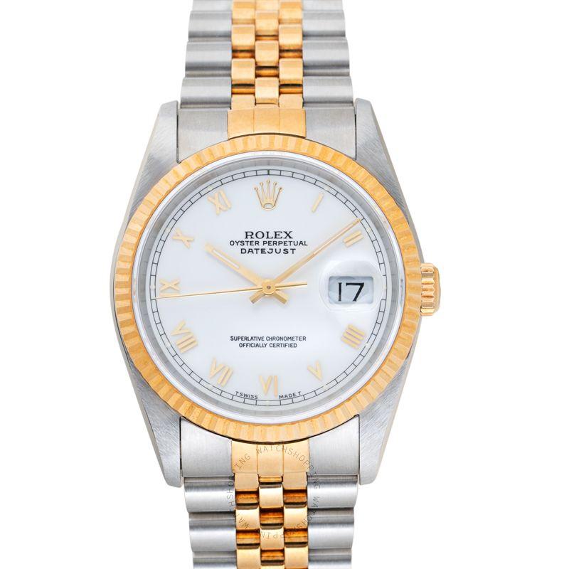 Rolex Datejust 16233 WHITE ROMAN_@_37706