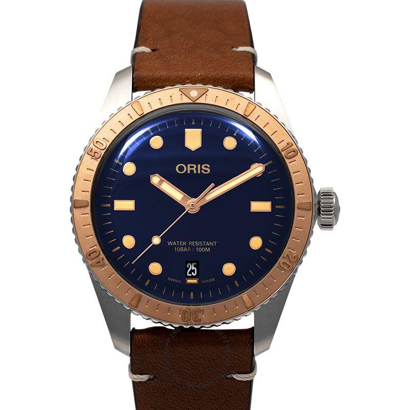 Oris Divers Sixty-Five Automatic Blue Dial Men's Watch 73377074355LS