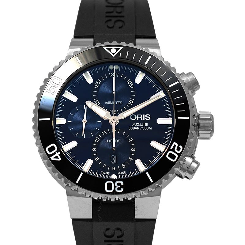Oris Aquis Chronograph Automatic Blue Dial Men's Watch 01 774 7743 4155-07 4 24 64EB