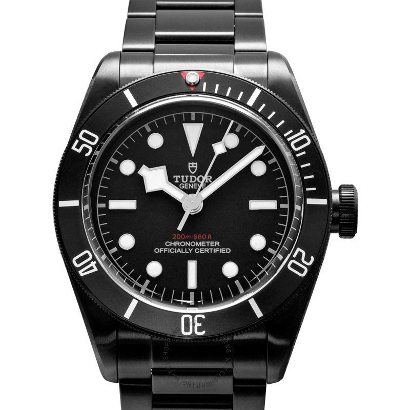 Tudor Heritage Black Bay Dark Swiss Steel Automatic Black Dial Men's Watch