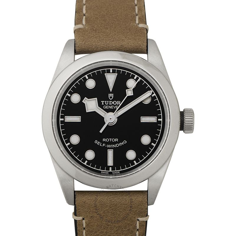 Tudor New Heritage Black Bay 32 Baselworld 2018 Stainless Steel Automatic Black Dial Ladies Watch 79580-0002
