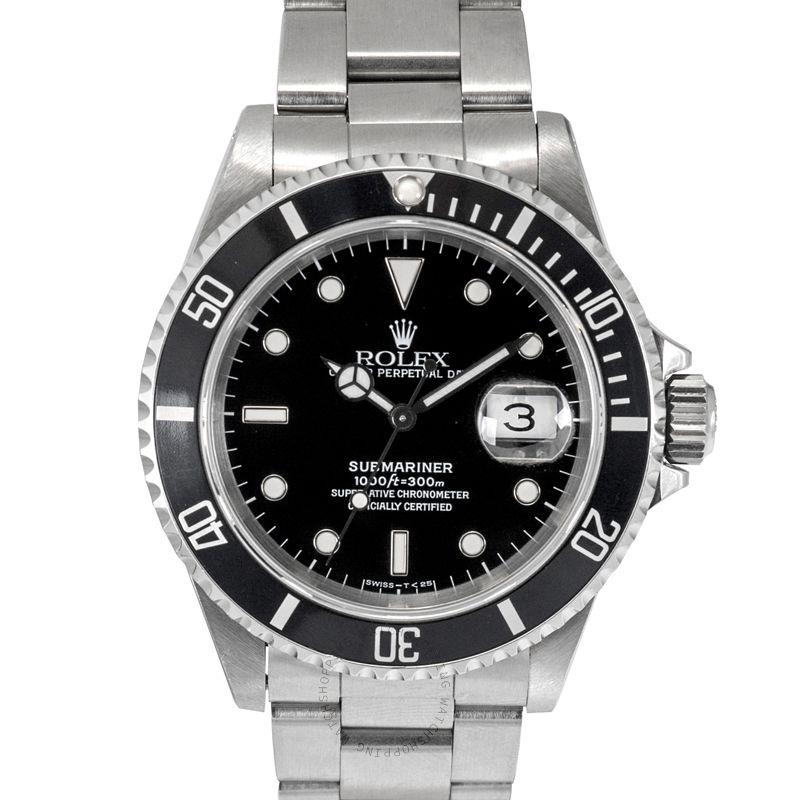 Rolex Submariner 16610 Black_@_4322