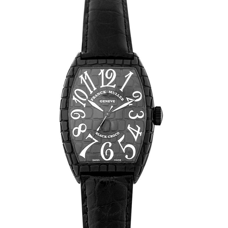 Franck Muller Franck Muller Cintree Curvex Black Automatic Watch 39mm