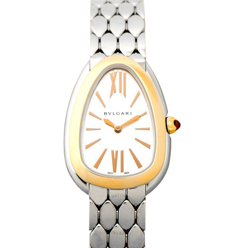 Bvlgari Serpenti Seduttori Quartz White Dial Ladies Watch 103144