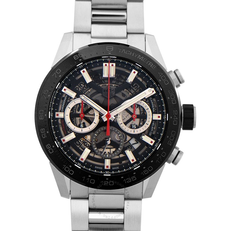 TAG Heuer Carrera Automatic Skeleton Dial Men's Watch CBG2A10.BA0654