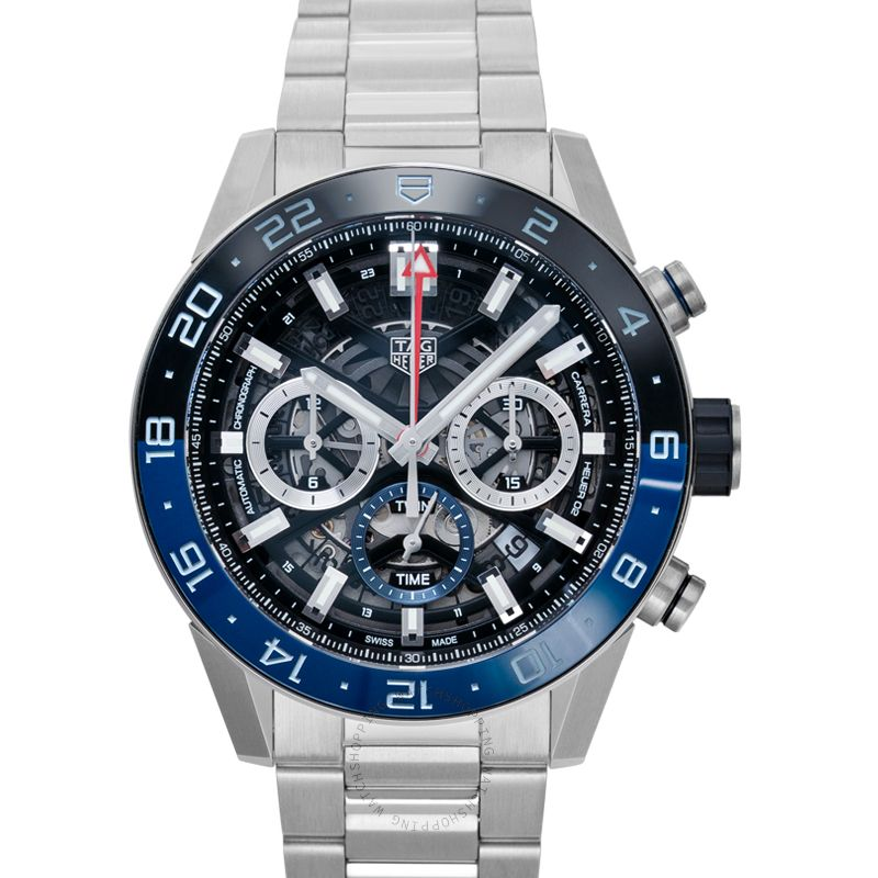 TAG Heuer Carrera Calibre Heuer 02 GMT Automatic Skeleton Dial Men's Watch