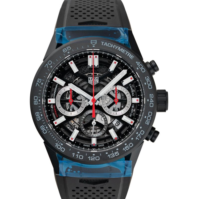 TAG Heuer Carrera Calibre Heuer 02 Automatic Skeleton Dial Men's Watch