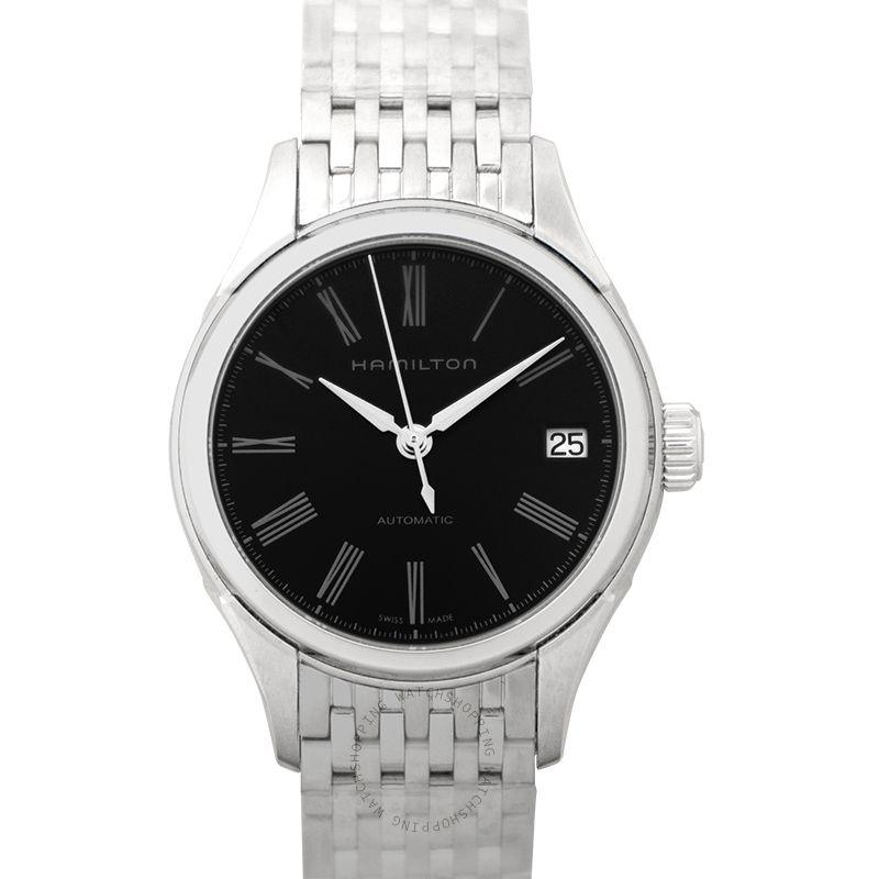 Hamilton Jazzmaster Valiant Automatic Black Dial Stainless Steel Ladies Watch H39415134