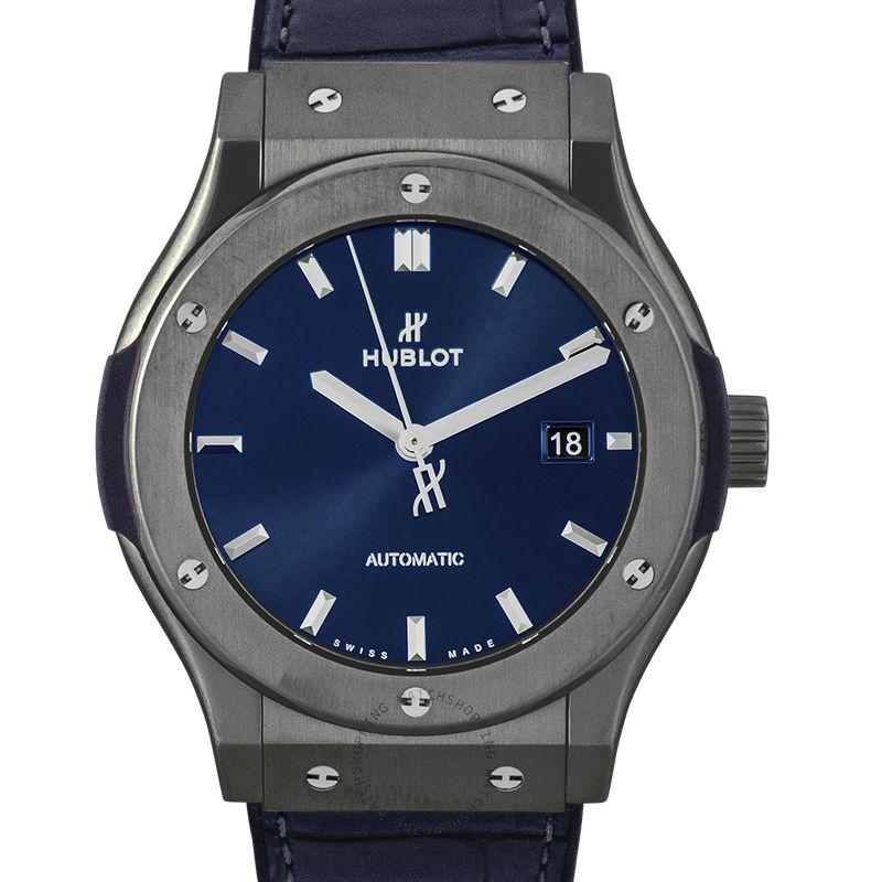 Hublot Classic Fusion Ceramic Blue Automatic Blue Dial Men's Watch 542.CM.7170.LR
