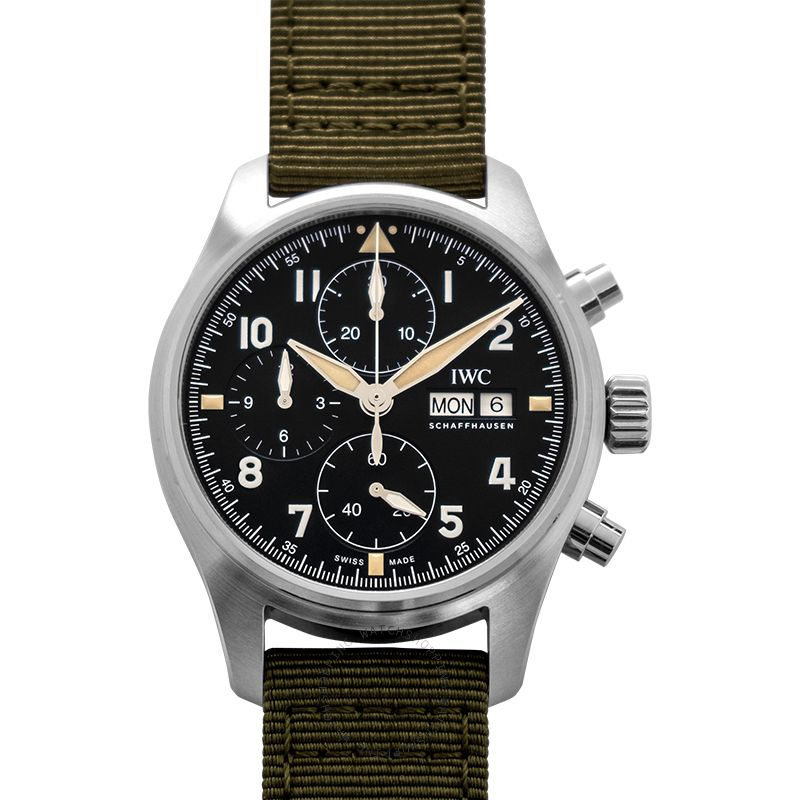 IWC Pilot's Watch Chronograph Spitfire Automatic Black Dial Men's Watch