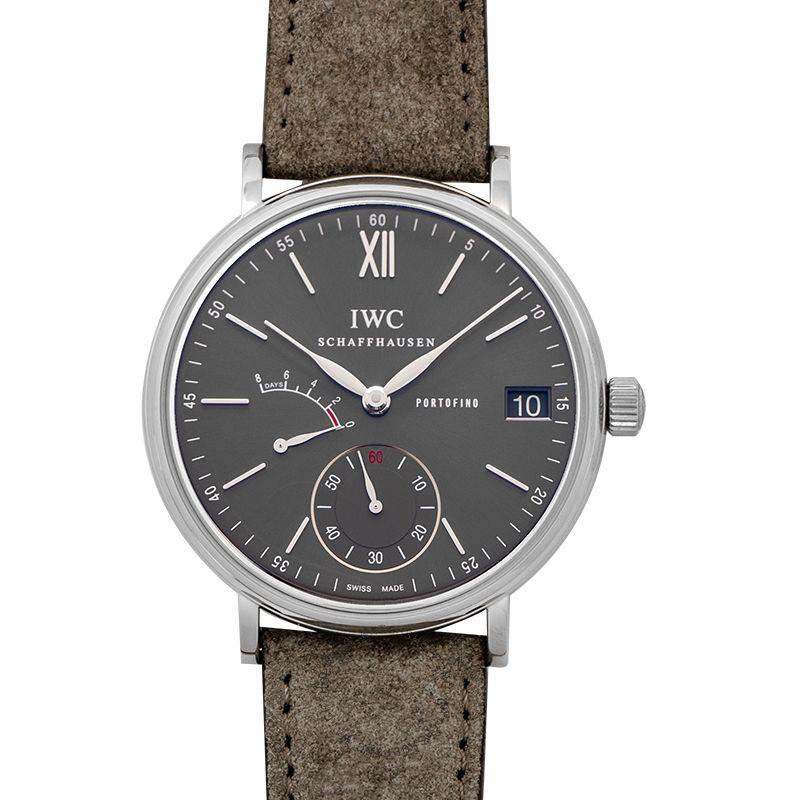 IWC Portofino Hand-Wound Eight Days Manual-winding Grey Dial Men's Watch IW510115