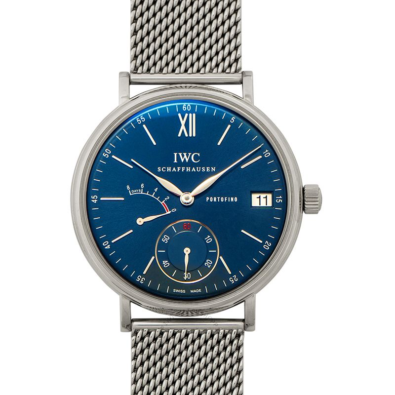 IWC Portofino Hand-Wound Eight Days Manual-winding Blue Dial Men's Watch