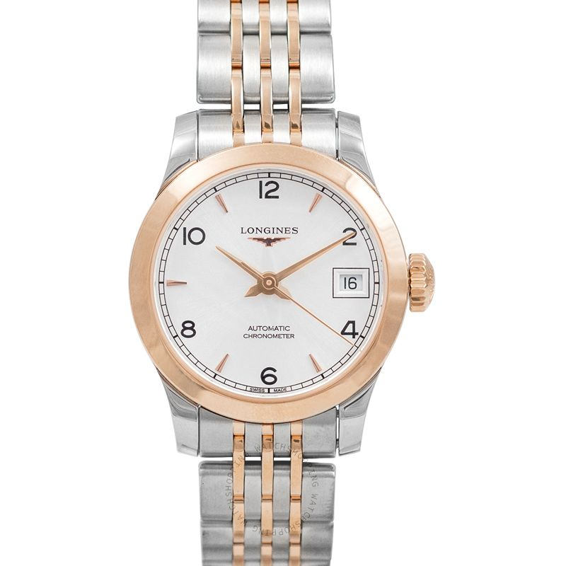 Longines Record Automatic Silver Dial Ladies Watch