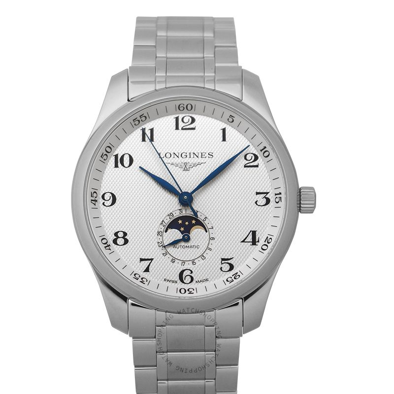 Longines The Longines Master Collection Moonphase Automatic Silver Dial Men's Watch L29194786