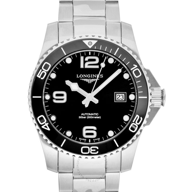 Longines Hydroconquest Automatic Black Dial Men's Watch L37814566
