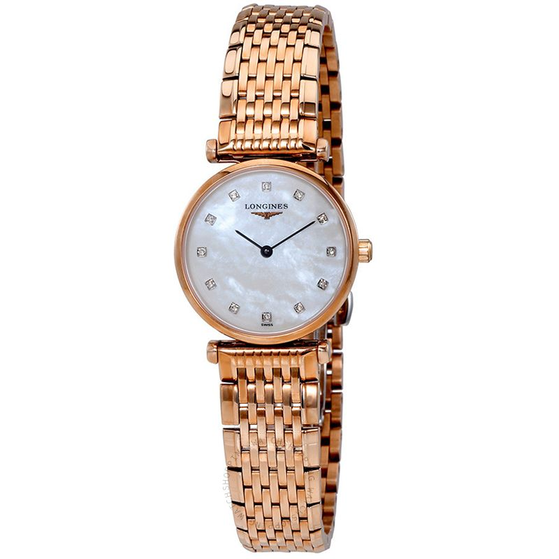 Longines La Grande Classique de Longines Quartz White Mother Of Pearl Dial Diamond Ladies Watch L42091978