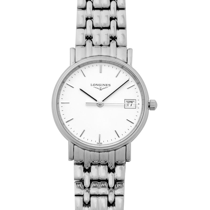 Longines Presence Quartz White Dial Ladies Watch L43204126