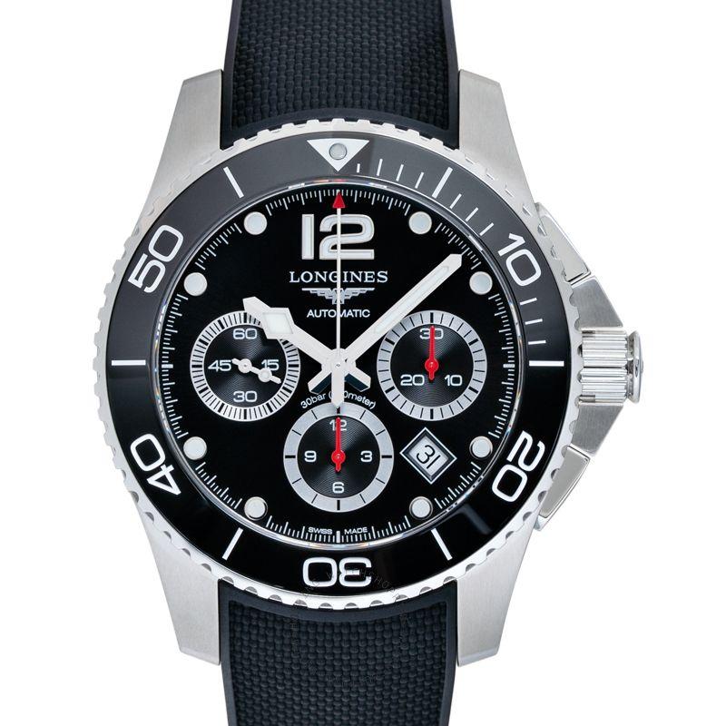 Longines HydroConquest Chronograph Automatic Black Dial Men's Watch L38834569