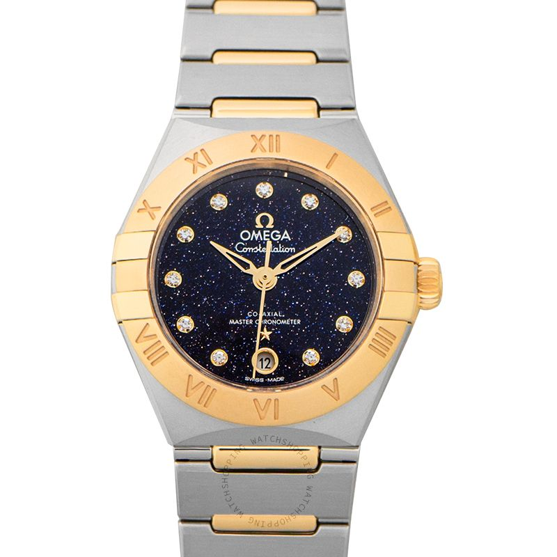 Omega Constellation Co-Axial Master Chronometer 29mm Automatic Blue Dial Diamond Ladies Watch 131.20.29.20.53.001