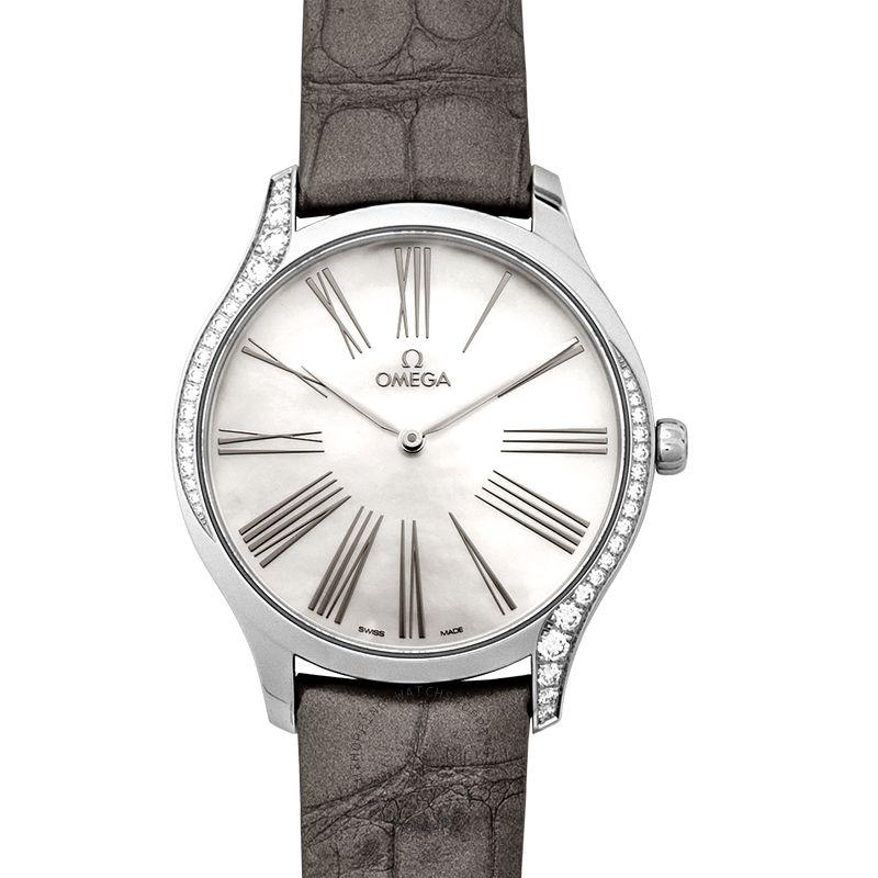 Omega  De Ville Tresor Quartz White Dial Steel Ladies Watch 428.18.39.60.05.001