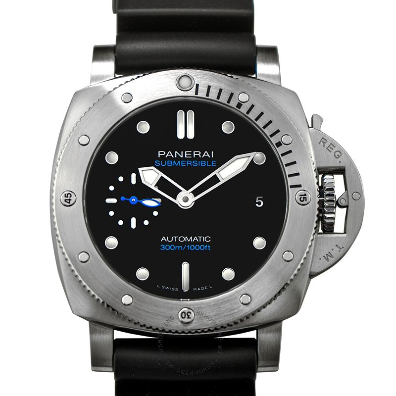 Panerai Submersible Automatic Black Dial 42 mm Men's Watch